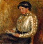 1a Pierre-Auguste Renoir (French Impressionist Painter, 1841-1919) Woman Reading