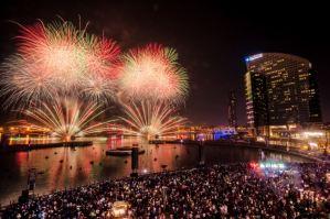 Dubai+Festival+City+Mall+Fireworks